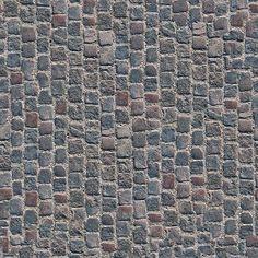 Textures Texture seamless | Damaged street paving cobblestone texture seamless 07459 | Textures - ARCHITECTURE - ROADS - Paving streets - Damaged cobble | Sketchuptexture