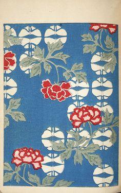 Free Old Japanese Art Prints From The Shin-Bijutsukai - Picture Box Blue Chinese Patterns, Japanese Patterns, Japanese Design, Japanese Textiles, Pattern Art, Print Patterns, Japanese Art Prints, Japanese Painting, Chinese Artwork
