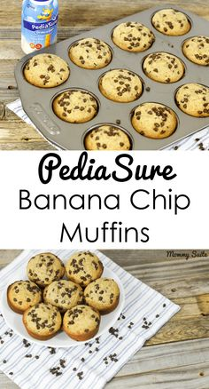 Delicious Banana Chip Muffins with PediaSure to help children grow! This is a recipe your whole family will love! Picky Toddler Meals, Toddler Snacks, Kids Meals, Foods For Picky Toddlers, Toddler Dinners, High Calorie Snacks, Healthy Snacks, Baby Food Recipes, Snack Recipes