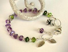 Amethyst Bracelet  February Birthstone by jQjewelrydesigns on Etsy