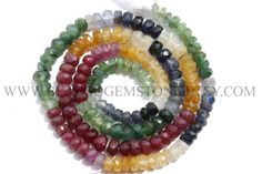 Beads, Multi Precious ( Ruby, Emerald, Yellow Sapphire, Blue Sapphire, White Sapphire) Gem Rondelle Faceted (Quality B), 4 to 4.5 mm, MU-001 by beadsogemstone on Etsy #rubybeads #emeraldbeads #yellowsapphirebeads #bluesapphirebeads #whitesapphirebeads #rondellebeads #multipreciousbeads #gemstonebeads #preciousstones #preciousbeads #briolettes #jewelrymaking #craftsupplies #beadsofgemstone #stones #beads