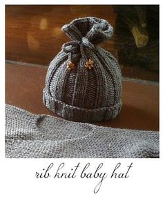 Rib Knit baby hat