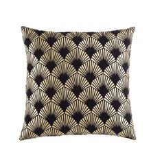 Black Cotton Cushion with Golden Graphic Motifs on Maisons du Monde. Take your pick from our furniture and accessories and be inspired! Decorative Storage Boxes, Decorative Pillows, Art Deco Living Room, Black Throw Pillows, Balcony Furniture, Trunks And Chests, Home Scents, Quilted Bedspreads, Relax