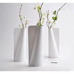 From Prodeez Product Design: Tyvek Vase by Jiwon Choi. #furniture #vase #creative #design #ideas #designer #jiwonchoi #interior #interiordesign #product #productdesign #instadesign #furnituredesign #prodeez #industrialdesign #architecture #style #art