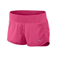 Nike Women's Crew 3 Inch Running Shorts, Pink ($15) ❤ liked on Polyvore featuring activewear, activewear shorts, pink, pink sportswear, nike, nike activewear, nike sportswear en pink jersey