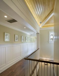 Hallway idea.. Wanes Coating. would be gorg with our dark wood floors :)
