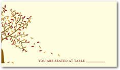 Autumn Afternoon - Signature Ecru Place Cards - Jenny Romanski - Sienna Brown - Brown : Front