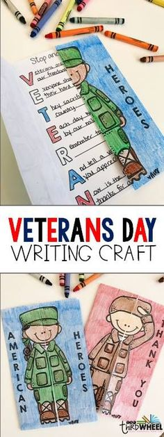 Purposeful, no prep Veterans Day craft for elementary kids. Perfect for the classroom bulletin board display and for Veterans Day activities. Look for further for Veterans Day ideas for 2nd, 3rd, 4th, and 5th grades. Differentiated versions to meet all learners.