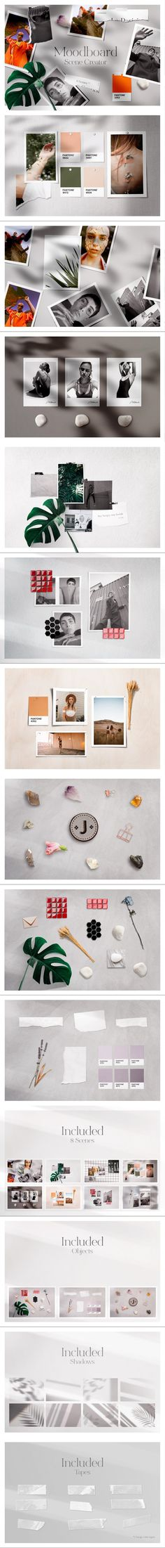 MoodBoard Mockup #templates #mockup #monstera #fashion #notebook #psd #styledphotography #polaroidphotomockup #waxseal #moodboardtemplate #vintage #retro #weddinginvite #polaroid #moodboard #pattern #print #etsymockup #thinwhiteframe Torn Paper, Mockup Templates, Mood Boards, Photo S, Adobe, Fonts, Notebook, Leaves, Graphics