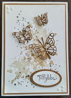 Butterfly Cards, Butterfly Flowers, Flower Cards, Butterflies, Closet Door Storage, Diy And Crafts, Paper Crafts, Diy Nightstand, Jewelry Case