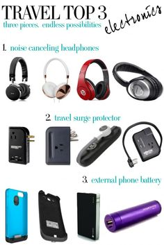 Travel Top 3 - Electronics - Hitha On The Go