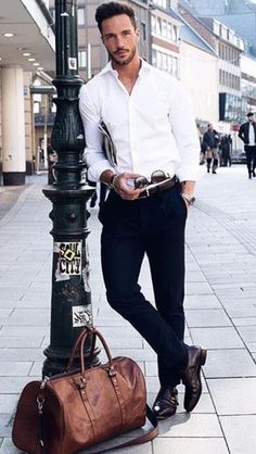 a4d4a81742 Wear it simple. White shirt and black pants. Men s classy style - Learn how  I made it to in one months with e-commerce!