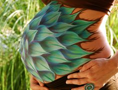 Alicia's Agave Belly Paint/ Prenatal Art www.heatherslivingart.com