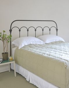 Wrought Iron Headboard by Mina Javid for Blik wall decals is for the minimalist who wants something more than the bare minimum. Available in twin, queen and king size.