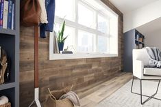 Upgrade home interior with peel and stick wood from Stikwood collection. Transform your wall with authentic reclaimed wood. Check it out today. Stick On Wood Wall, Peel And Stick Wood, Wood Sticks, Reclaimed Wood Wall Panels, Wood Panel Walls, Wood Planks, Wood Paneling, Home Decor Bedroom, Master Bedroom