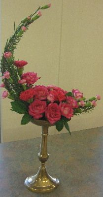 crescent flower arrangement - Google Search
