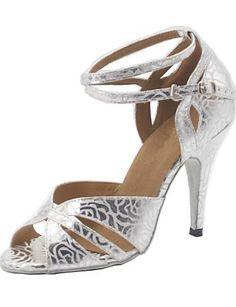 ZZYY-maßgeschneiderte Frau Silberleder Gesellschaftstanz Schuhe - http://on-line-kaufen.de/zzyy/zzyy-massgeschneiderte-frau-silberleder-schuhe