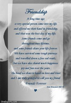 Friendship poem. Welcome to repin and share enjoy: