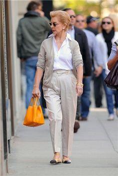 Carolina Herrera paseando por las calles de Nueva York