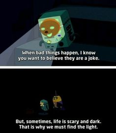 "When BMO was wise beyond their years. | 19 Times ""Adventure Time"" Really Wanted To Make You Cry"