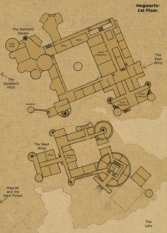 Hogwarts Castle Floor Plan | ... saw it s certain that it has more than 1 floor hogwarts first floor