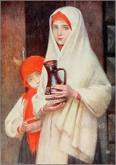 Marianne Stokes - HUNGARY:Girls picking wild strawberries http://ecx.images-amazon.com/images/I/51Nr0cKlkZL._SL500_AA300_.jpg - More at http://www.artmagick.com/pictures/artist.aspx?artist=marianne-stokes (Thx Marie-Louise)