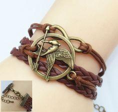 Multilayer Braided Hunger Games Infinity Bracelet