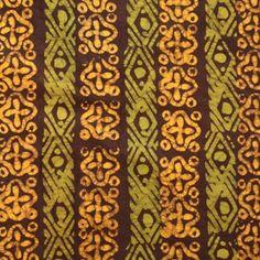 Batik Fabric Gold, Olive Green & Dark Chocolate Craft, Green And Gold, Olive Green, Fabrics, Textiles, Chocolate, Dark, Sewing, Tejidos
