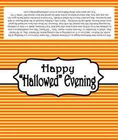 Happy Hallowed Evening Candy Bar Label with Gospel Message