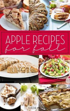 30+ fall apple recipes too good not to try! Lots of great ideas from desserts to side dishes and perfect for the holidays.