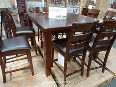 Woodland Ridge 9 Piece Trestle Counter Height Table Set  Http Best Dining Room Sets Costco Inspiration
