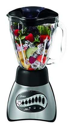 With sleek modern styling and a powerful motor this efficient countertop blender works great for whipping up fruit smoothies mixing frozen margaritas blending pureed soups stirring up zes. Frozen Margaritas, Frozen Drinks, Mixer, Oster Blender, Pureed Soup, Best Blenders, Small Appliances, Kitchen Appliances, Kitchen Tools