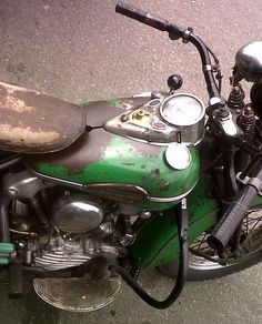 Patina on an old Harley.