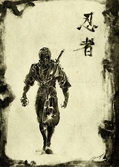 Black Shinobi by *scabrouspencil on deviantART