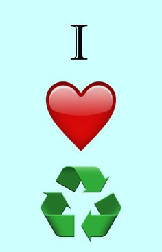 I love recycling graphic, show your support for all things recycling with this simple yet effective graphic. #recycling #iloverecycling #i #love #recycling