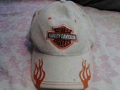 Harley - Davidson Motor Cycles White Cap Hat