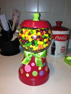 Candy Jar made from Flower Pot