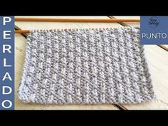 Punto Perlado tejido en dos agujas: reversible, no se enrosca, ideal para principiantes - Soy Woolly - YouTube Easy Knitting Patterns, Knitting Videos, Stitch Patterns, Crochet Patterns, Crochet Videos, Knit Stitches For Beginners, Knit Purl Stitches, How To Start Knitting, How To Purl Knit