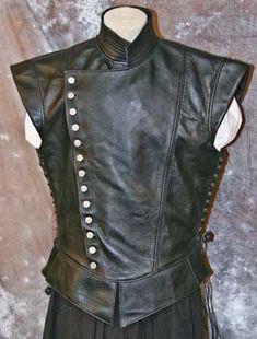 Jerkin Paladin Leather Doublet Vest #ravenswoodleather