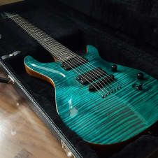 """This guitar is beautiful no doubt about it Specs on This Guitar: ▪  Deep orange burst Finish on a Special Ordered """"Chevron"""" Flamed Maple Top ▪  Matching Flamed Maple Headstock ▪  Mahogany Body, ▪  Floyd Rose Tremelo with Floyd Rose Locking Nut ▪  AAAA grade top  ▪ Jumbo Stainless Steel F..."""