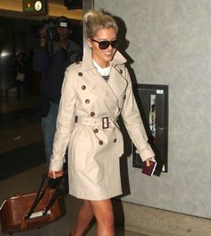 Mollie King Photos - British pop stars The Saturdays, Frankie Sandford, Mollie King, Una Healy and Vanessa White arriving on a flight at LAX airport in Los Angeles, California on Januaray - The Saturdays Arriving On A Flight At LAX Frankie Sandford, Mollie King, King Photo, Jet Set, Trench, Eye Candy, Celebrities, Coat, Jackets
