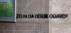 Beogradski grafiti.: Srpski doručak / želim da odem odavde #Beograd #Belgrade #Graffiti #Grafiti #StreetArt