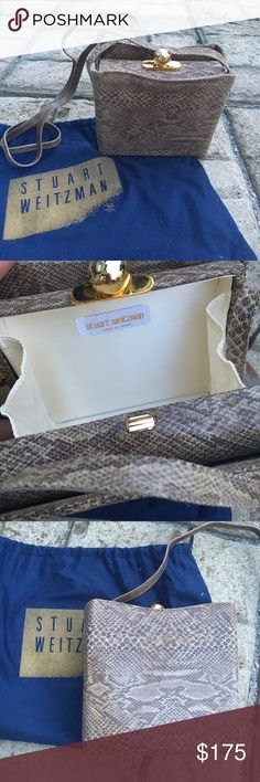 Stuart Weitzman Vintage Snakeskin Purse Vintage snakeskin Stuart weitzman purse in excellent condition. *ADD LISTING TO YOUR BUNDLE AND RECEIVE FREE SHIPPING* Stuart Weitzman Bags Crossbody Bags