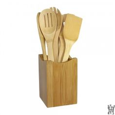 Oceanstar 7 Piece Bamboo Cooking Utensil Set — Whether you are replacing an old set of bamboo utensil or adding more to your cooking gadgets, this Bamboo Cooking Utensil Set from Oceansta. Cooking Utensils Set, Kitchen Utensil Set, Serving Utensils, Kitchen Storage, Cooking Gadgets, Cooking Tools, Cooking Pork, Cooking Turkey, Cooking Recipes