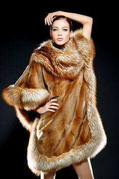 sheared mink & fox fur pullover