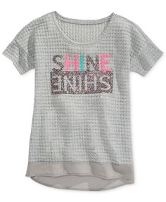 Jessica Simpson Girls' Tracy Mirrored Shine Tee - Kids - Macy's