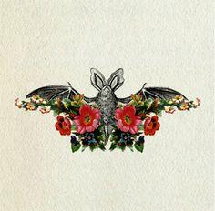 bat tattoo designs   http://www.tattoobite.com/flowers-bat-tattoo-design/
