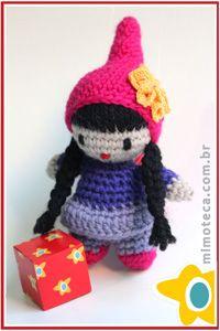 MIMOLECA Mimoteca - emoção em arte Crochet Amigurumi doll