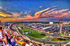 Sunset at NASCAR Coca Cola 600 2013 at Charlotte Motor Speedway by Oscar Soto on 500px