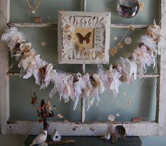 Burlap and Lace garland by FunkyJunkyArt